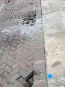 Failing Seawall & Sinkholes caused by failed drainage